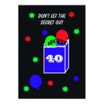 Surprise 40th Birthday Party Invitation -- SECRET Custom Invites