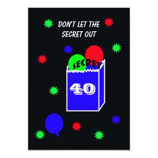 Surprise 40th Birthday Party Invitation SECRET