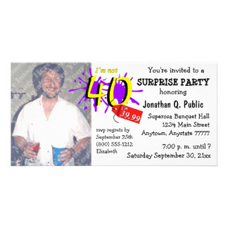 Surprise 40th Birthday Party Photo Invitation