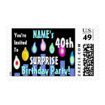 SURPRISE 40th Birthday Party Stamp BLUE