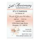 """Surprise 50th Anniversary Party Invitations 5"""" X 7"""" Invitation Card"""