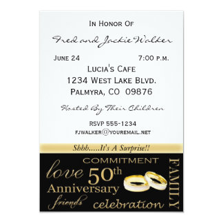 surprise 50th anniversary party invitations - 50th Anniversary Party Invitations