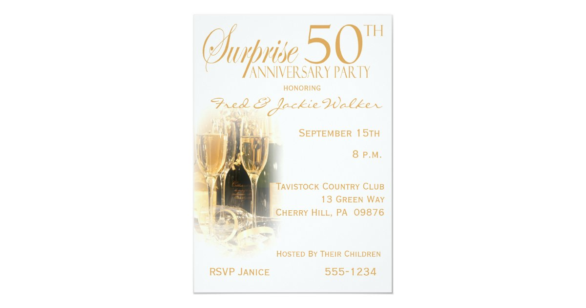 Surprise Wedding Anniversary Invitations: Surprise 50th Anniversary Party Invitations