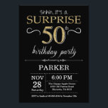 "Surprise 50th Birthday Invitation Black and Gold<br><div class=""desc"">Surprise 50th Birthday Invitation with Black and Gold Glitter Background. Chalkboard. Adult Birthday. Men or Women Bday Invite. Any age. For further customization,  please click the ""Customize it"" button and use our design tool to modify this template.</div>"