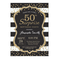 60 off adult birthday invitations shop now to save zazzle surprise 50th birthday invitation gold glitter filmwisefo