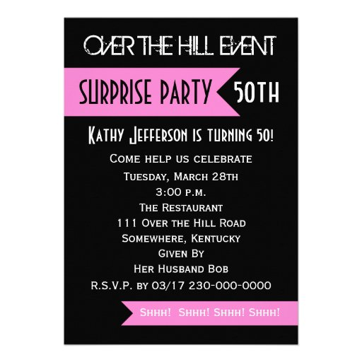 Surprise 50Th Birthday Party Invitations can inspire you to create best invitation template