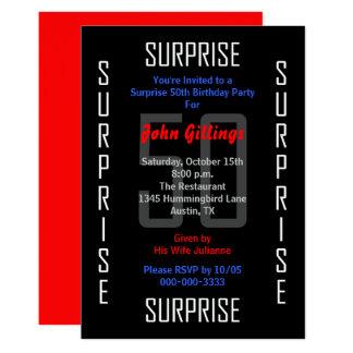 Surprise 50th Birthday Party Invitation 50