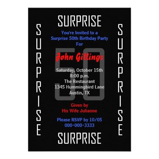 Surprise 50th Birthday Party Invitation - 50