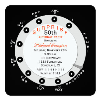 Surprise 50th Birthday Party Invitation Rotary