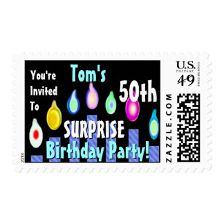 Surprise 50th Birthday Party Stamp Custom Name