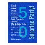 "SURPRISE 50th Birthday Royal Blue B400 5"" X 7"" Invitation Card"