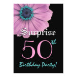 SURPRISE 50th Birthday Template Pink Daisy Card