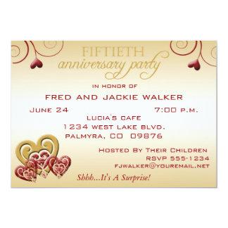 Surprise 50th Weddin Anniversary Party Invitations