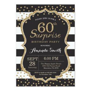 60th birthday invitations zazzle surprise 60th birthday invitation gold glitter invitation filmwisefo