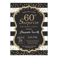 Adult birthday invitations announcements zazzle surprise 60th birthday invitation gold glitter filmwisefo Image collections