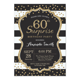 60th birthday party invitations 4700 60th birthday party surprise 60th birthday invitation gold glitter card stopboris