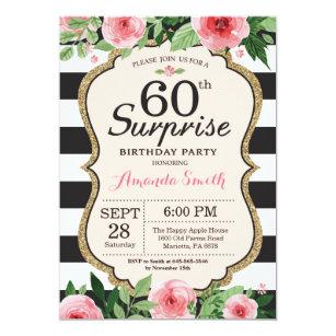 Surprise 60th Birthday Invitations Announcements Zazzle