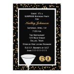 "Surprise 60th Birthday Party Invitation 5"" X 7"" Invitation Card"