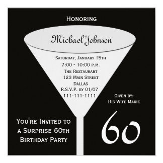 Surprise 60th Birthday Party invitation