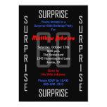 "Surprise 60th Birthday Party Invitation - 60 5"" X 7"" Invitation Card"