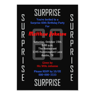 Surprise 60th Birthday Party Invitation 60
