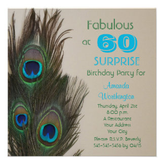 Surprise 60th Birthday Party Invitation - Fabulous