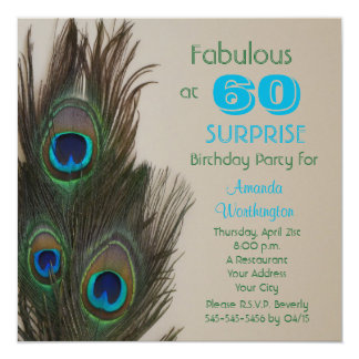 Surprise 60th Birthday Party Invitation - Fabulous