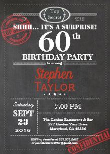 Surprise Party For Men Invitations Zazzle