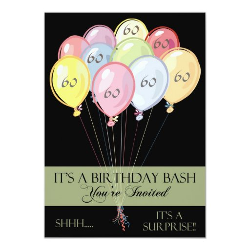 Surprise 60th Birthday Party Invitations