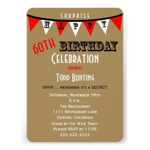 Surprise 60Th Birthday Invitations correctly perfect ideas for your invitation layout