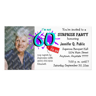 Surprise 60th Birthday Party Photo Invitation Photo Card