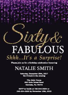 surprise 60th birthday invitations zazzle