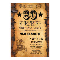 Surprise 60th Western Birthday Invitation