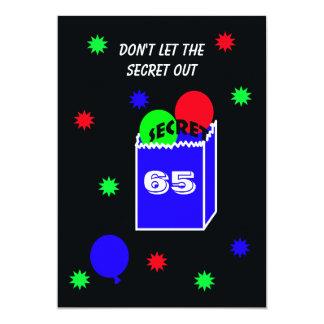 Surprise 65th Birthday Party Invitation SECRET