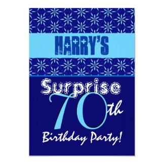 SURPRISE 70th Birthday Blue Stars W1430 Card