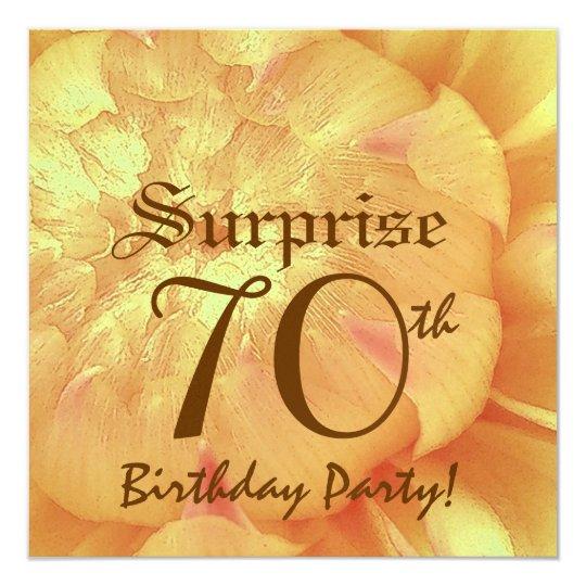 SURPRISE 70th Birthday Dahlia Premium Metallic Card
