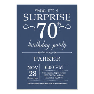 60 off surprise 70th birthday invitations shop now to save zazzle surprise 70th birthday invitation blue filmwisefo