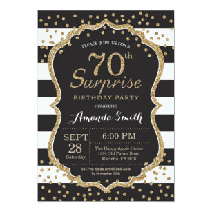 70th Birthday Invitations Zazzle