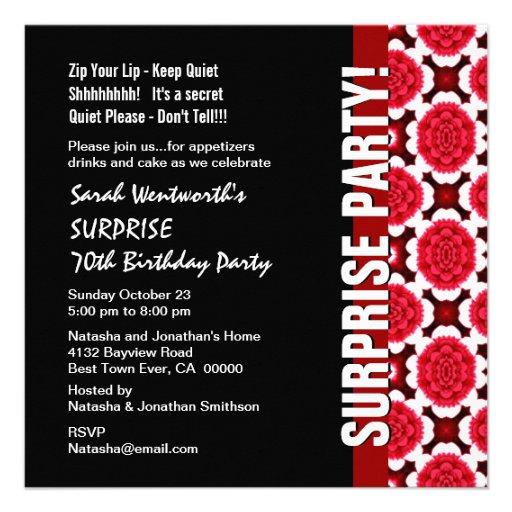Most Popular 70th Birthday Party Invitations CustomInvitations4Ucom