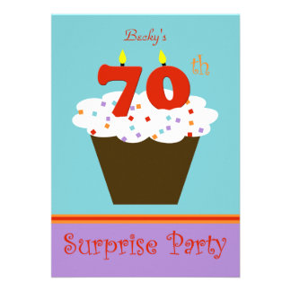 Surprise 70th Birthday Party Invitation Announcement