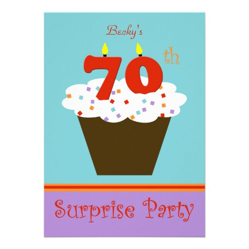 Surprise 70th Birthday Party Invitation