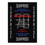 Surprise 70th Birthday Party Invitation - 70 Personalized Invites
