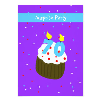 Surprise 70th Birthday Party Invitation Cupcake