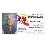 Surprise 70th Birthday Party Photo Invitation Photo Card