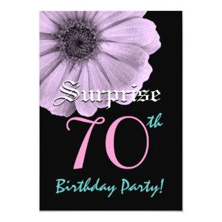 SURPRISE 70th Birthday Template Purple Daisy