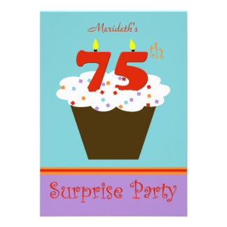 Surprise 75th Birthday Party Invitation Announcements