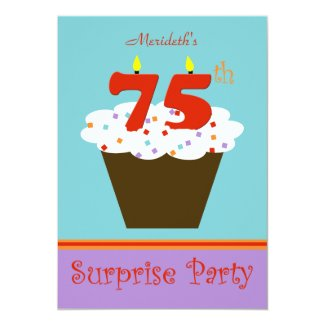 Surprise 75th Birthday Party Invitation