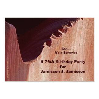 Surprise 75th Birthday Party Invitation Canyon