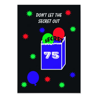 Surprise 75th Birthday Party Invitation SECRET