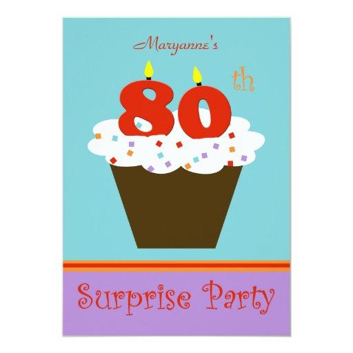 Surprise 80th Birthday Party Invitation | Zazzle